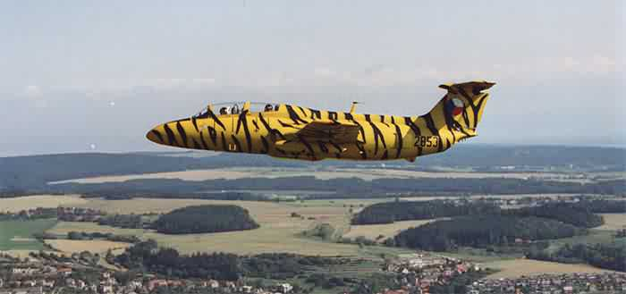 L-29 in flight